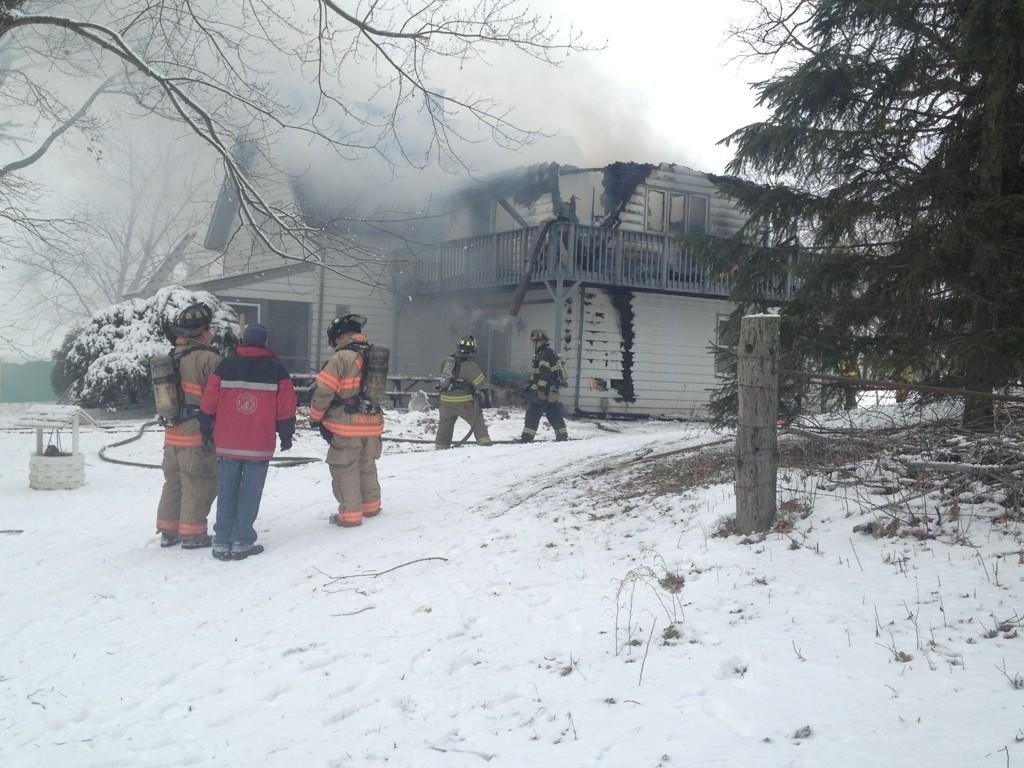 House near Beloit destroyed in morning fire