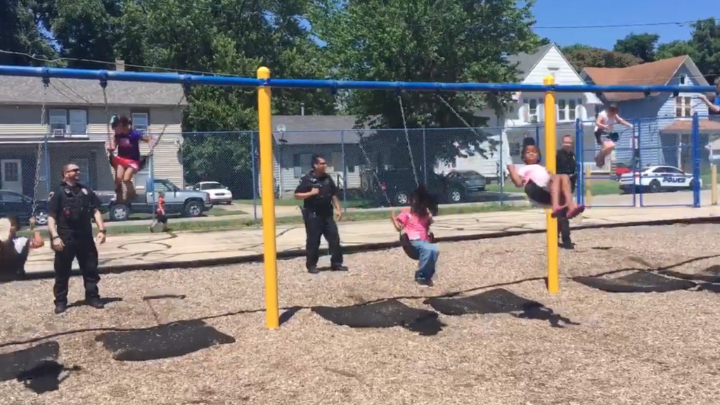 Beloit police officers swing into action after criminal comes close to playground