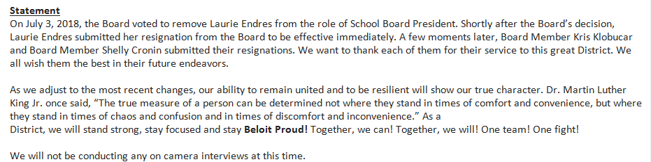 'Obstructionists anyway': Beloit parents react to resignations of 3 school board members