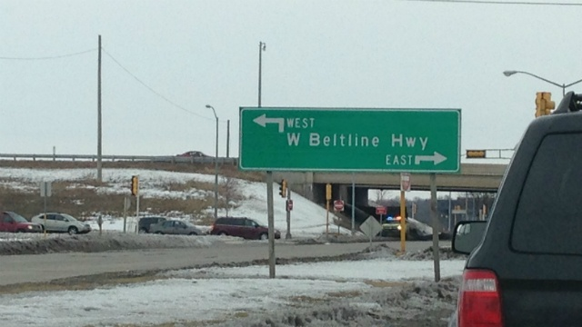 Lane closures start on westbound Beltline at Whitney Way Friday