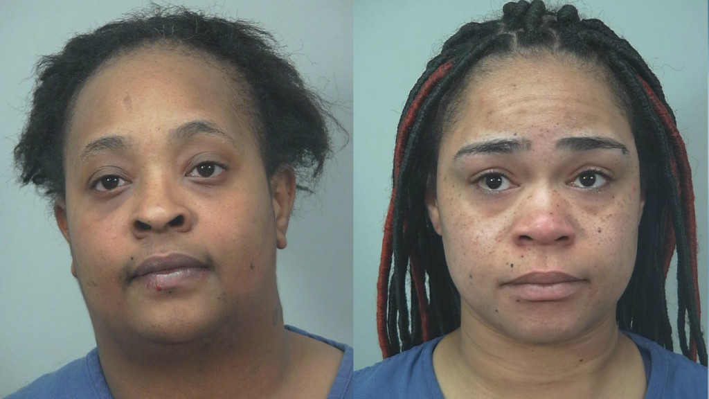 Police: 2 women arrested after driveway fight ends with battery, punctured tires