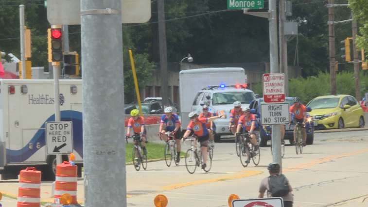 'It's nothing compared to the pain that these families feel': EMT bikers ride for a cause