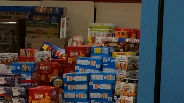 Company donates nearly 50,000 snacks to middle school