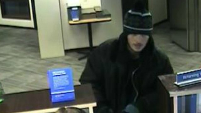 Police release picture of bank robbery suspect
