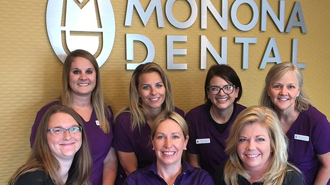 Smiles for workers, and patients at Monona Dental