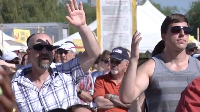 Brat Fest church service draws hundreds