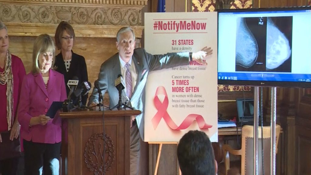 Lawmakers announce bill to notify women with dense breast tissue after mammogram