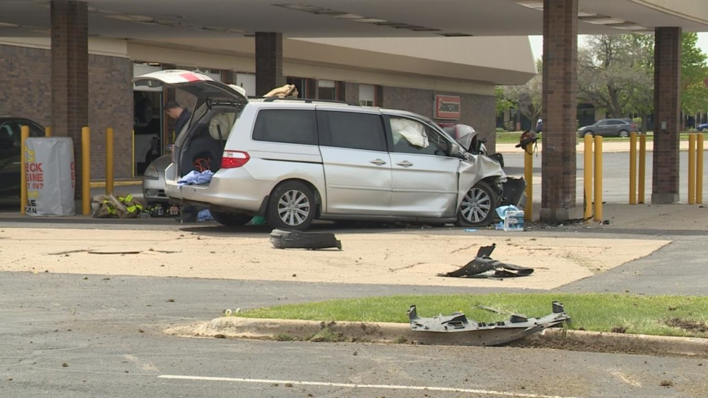 Driver in van vs. building crash dies at hospital, police say