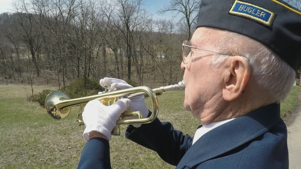 How a 93-year-old veteran is still serving his country as a bugler