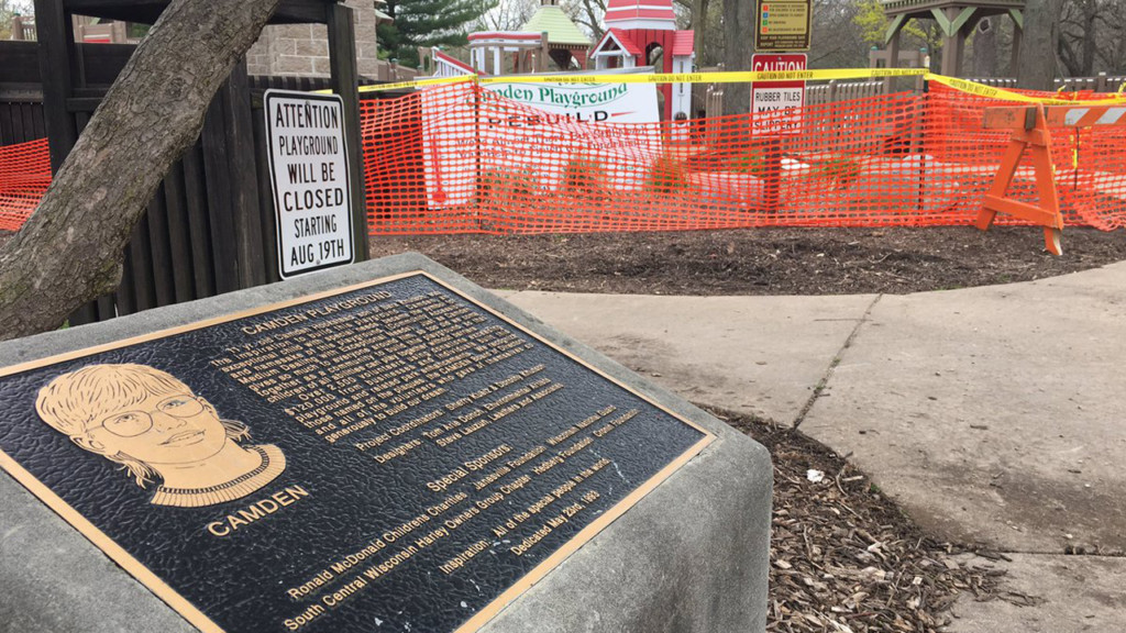 Janesville looking for volunteers to finish rebuilding handicap-accessible playground