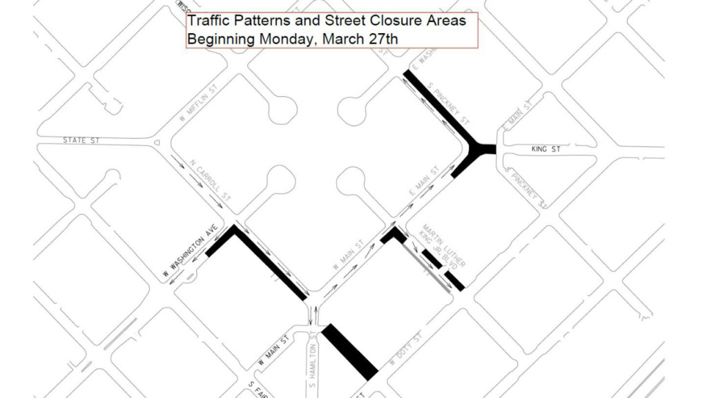 More construction, utility work comes to Capitol Square starting Monday