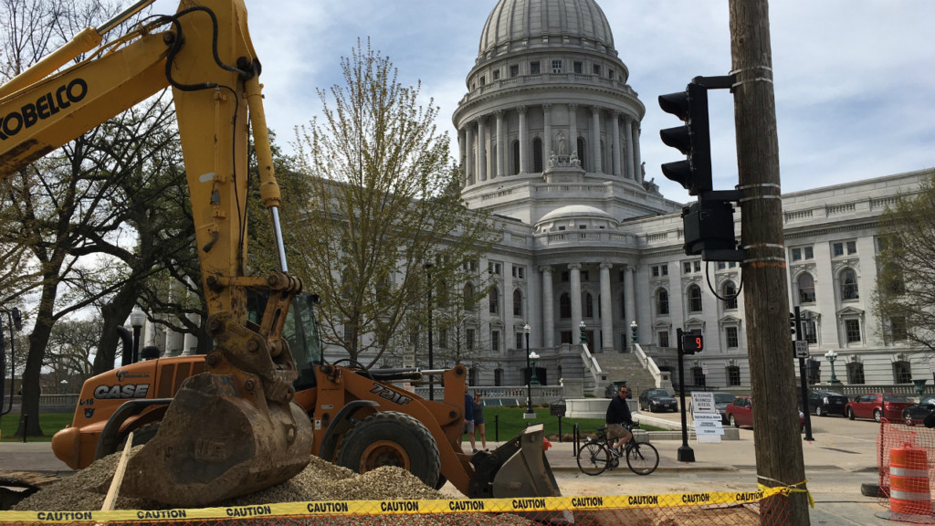 Warmer weather means construction starts on Capitol Square