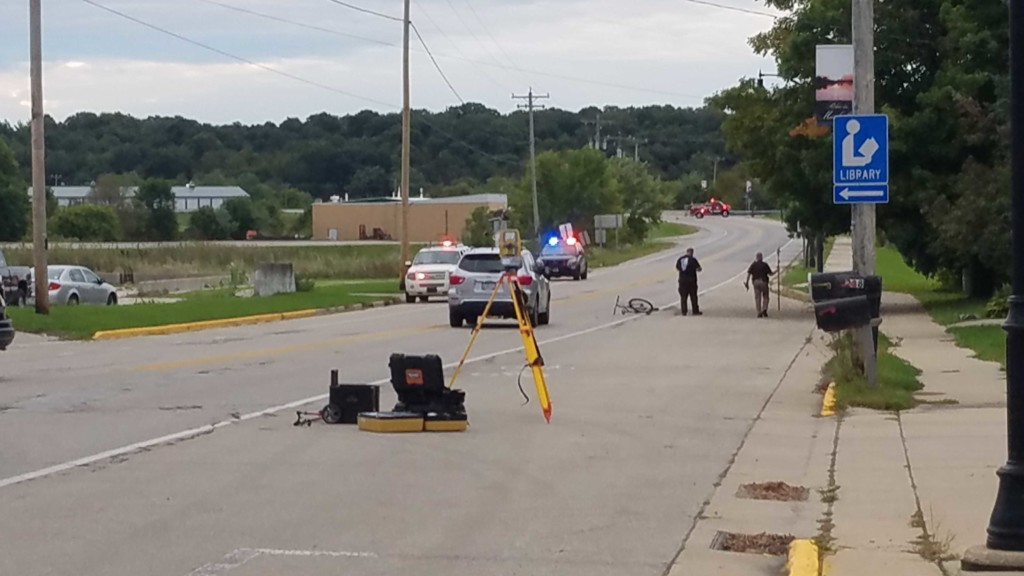 Highway reopens after car, bicycle crash in Marshall