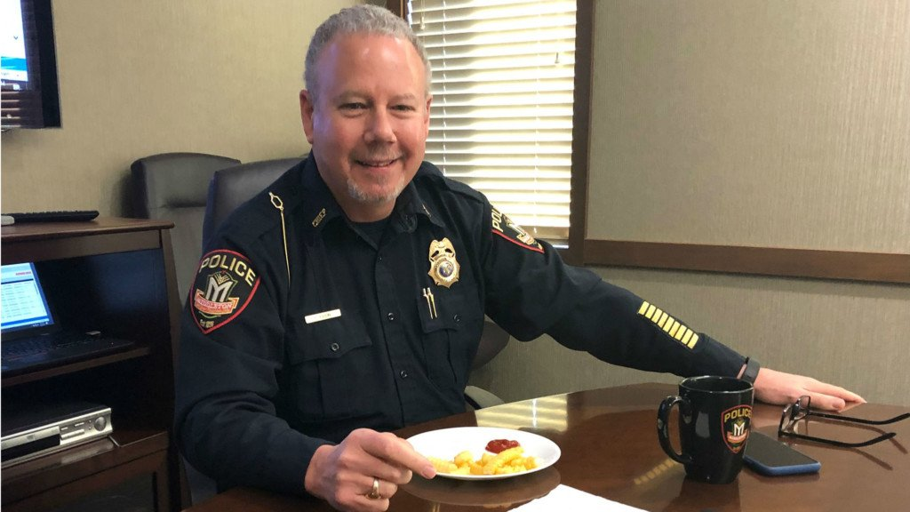 Surprised with fries: Middleton's police chief honored by colleagues during final staff meeting