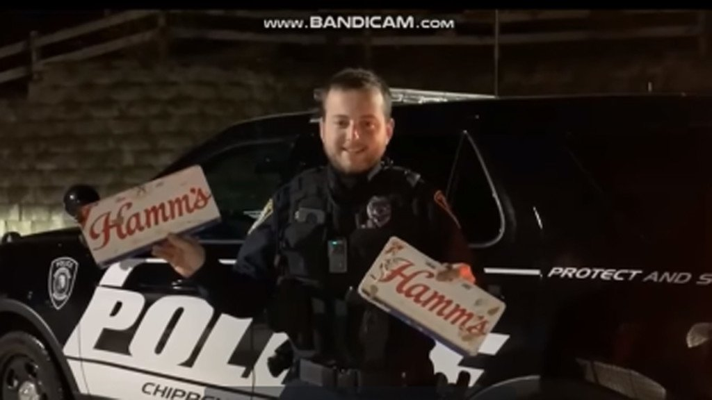 Man arrested for OWI, fake plates made from beer case