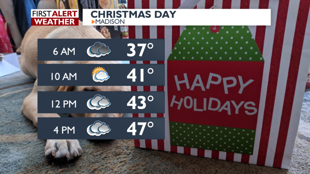Mild weather forecast for Christmas Eve, Christmas Day