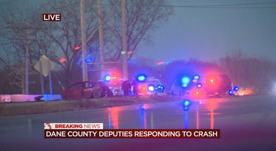 Police: Car lost control, went airborne into oncoming traffic, landing on SUV