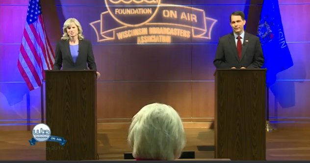 State governor candidates spar in first debate