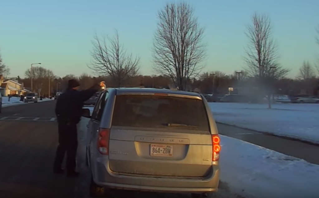 DeForest police officer rescues coffee cup from a car roof