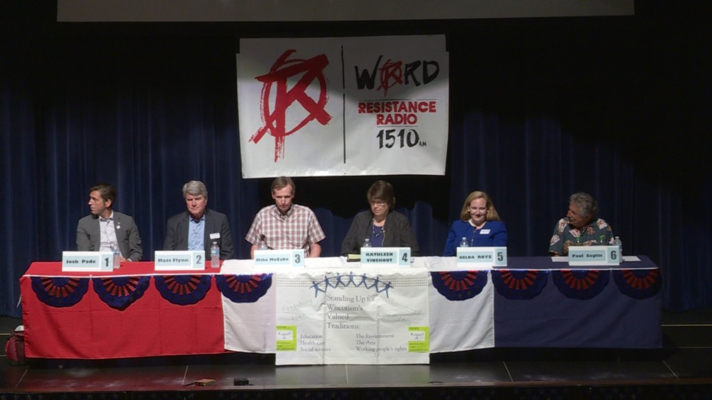 Candidates take on Scott Walker, Foxconn at forum