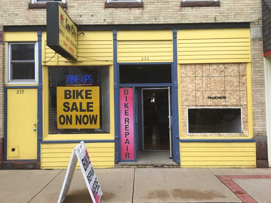 Boarded windows and all, much of downtown Sun Prairie back open for business