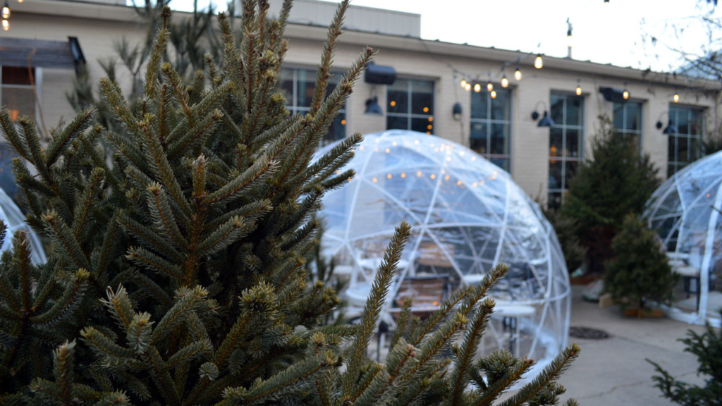 Robinia Courtyard introduces heated winter domes for dining