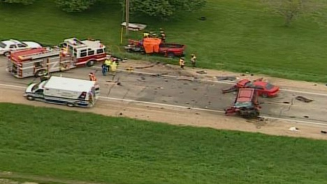 2 dead, 2 critically injured in Dodge Co. crash