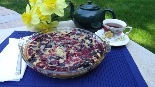Donna's Berry Clafouti With Brown Sugar Brandy Sauce