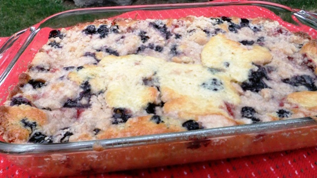 Donna's Blueberry Strawberry Coffee Cake