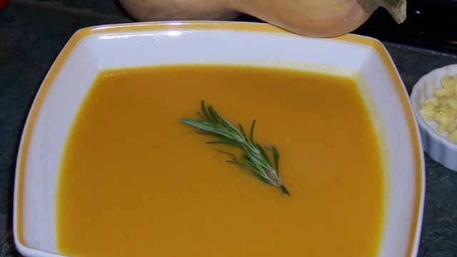 Donna's Butternut Squash Pear Soup With A Touch of Sherry