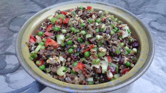 Donna's Wild Rice Salad With Peas, Peppers And Pecans