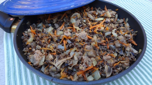 Donna's Wild Rice With Mushrooms And Italian Sausage