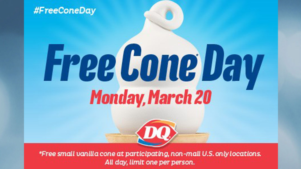 Dairy Queen 'Free Cone Day' set for Monday