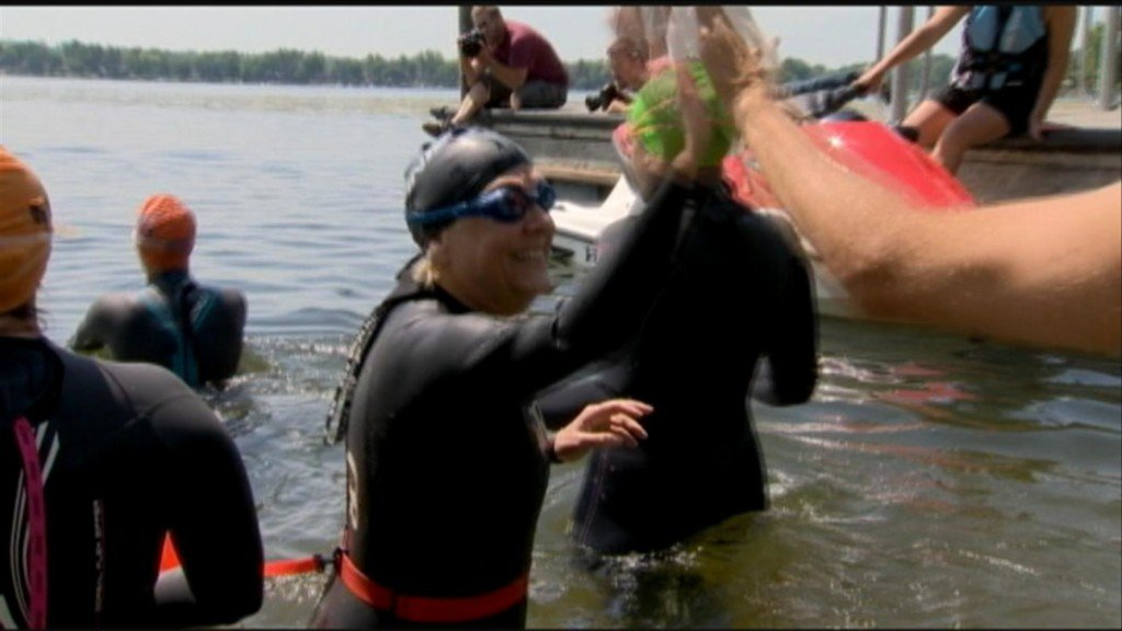 Local woman jumps into lakes to get attention for metastatic breast cancer