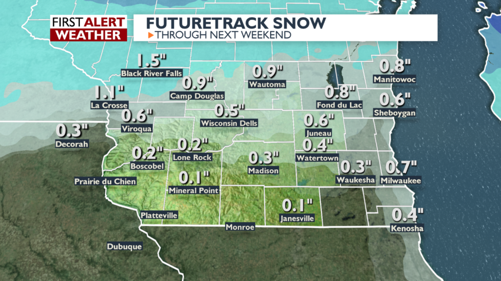 Chances for freezing drizzle, flurries, light snow through Saturday, then colder