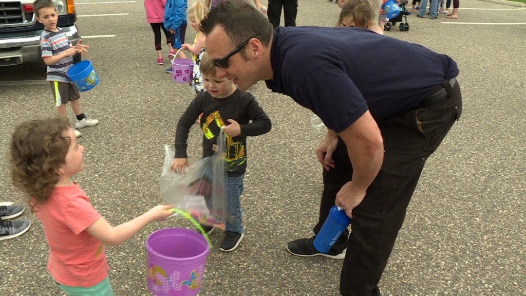 First responders celebrate Easter with community