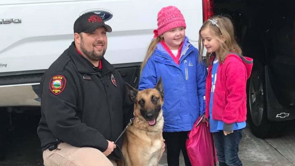 Terminally ill 7-year-old gets visit from over 35 K-9 units