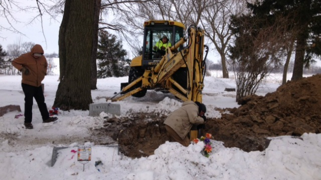Authorities exhume Beaver Dam murder victim's body