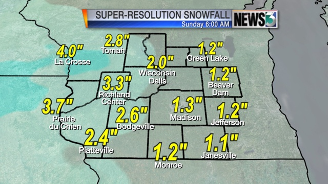 Accumulating snow expected Saturday night