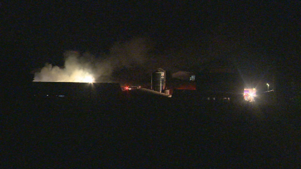 Equipment considered total loss after overnight fire at Montrose farm