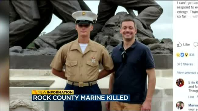 Body of Janesville marine killed on military base to return home Friday