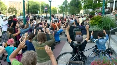 Madison residents honor Michael Brown with moment of silence