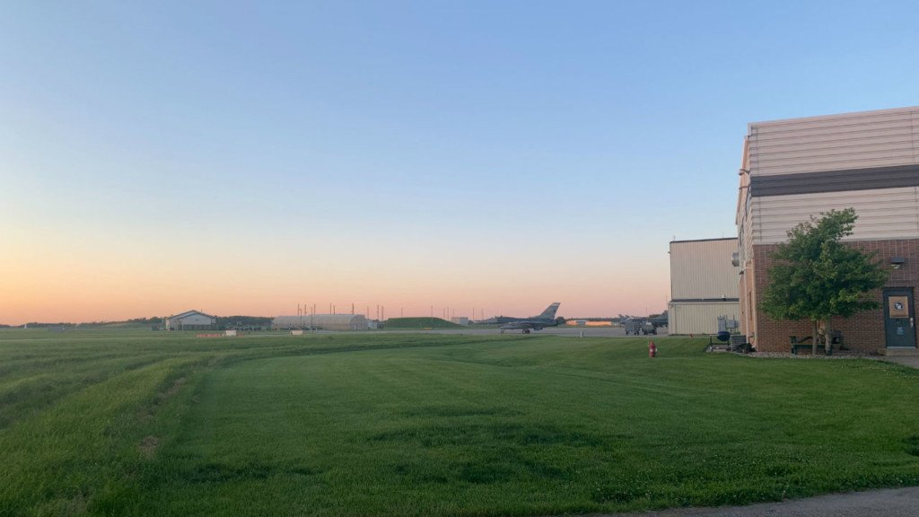 The 115th Fighter Wing trains at night and causes noise in the sky