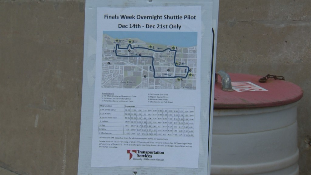 New overnight finals-week shuttle at UW-Madison designed for student safety