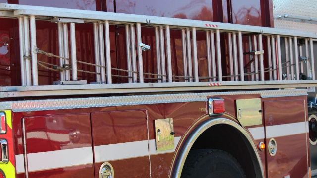 Firetruck severely damaged in Christmas Day crash on icy roads