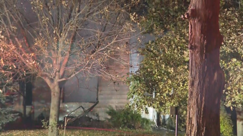 Deerfield home total loss, pets may not have gotten out safely from early-morning fire