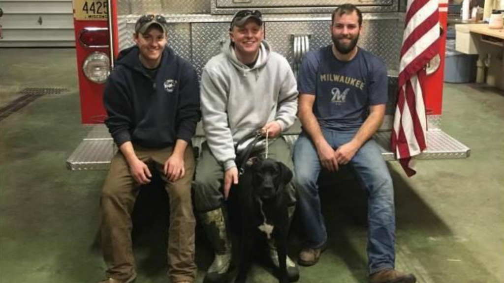 Firefighters rescue dog from icy Wisconsin River