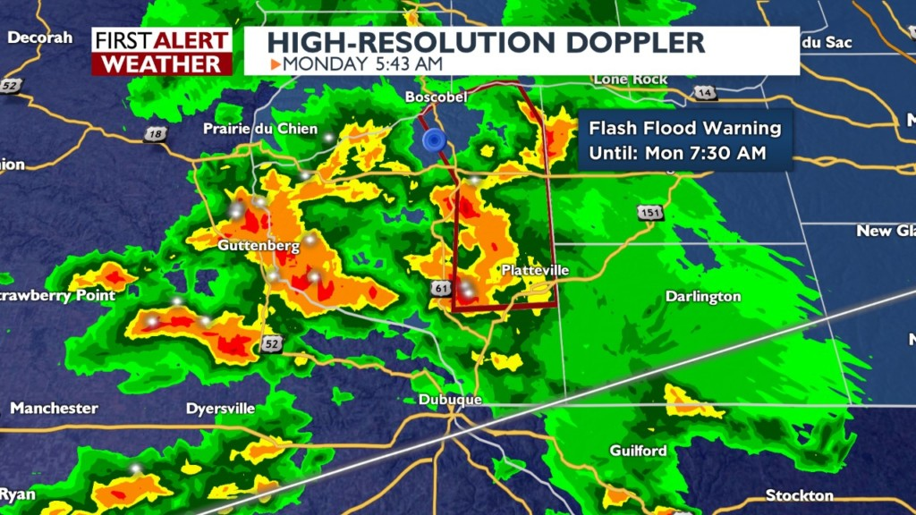 Mudslide reported as Flash Flooding Warning issued for Grant Co.