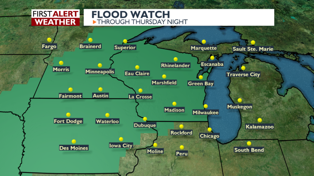 Flooding possible over the next couple of days