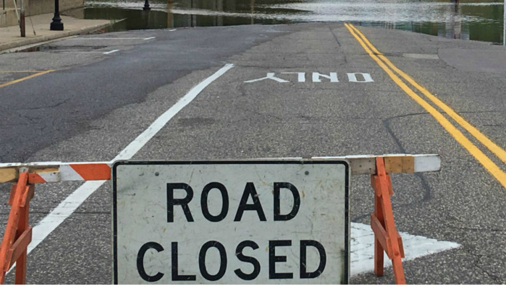 Several road closures after heavy rain in the downtown Madison area